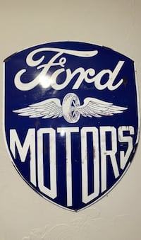ford motors shield rustic sign  Oklahoma City, 73170