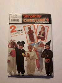 Child's Costume Sewin Pattern uncut Halloween  Mississauga, L4X 1S2