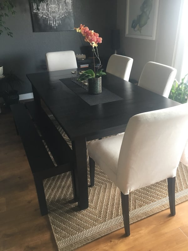 Used Ikea Stornas Table 4 Chairs Bench For Sale In Denver Letgo