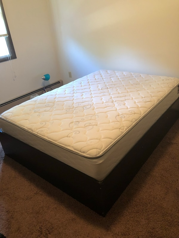 Bed frame with drawers and mattress
