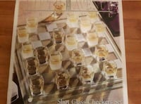 Fifth avenue LTD crystal shot glass checkers set  Vancouver