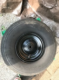 Black bullet hole car wheel with tire Toronto, M1G 2X6