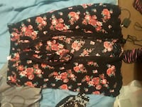 black and red floral print textile Fairfield, 45014