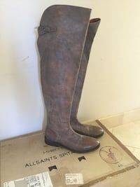Brown knee high boots size 37 All Saints Los Angeles, 91311