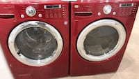 red front-load washer and dryer set Colorado Springs, 80907