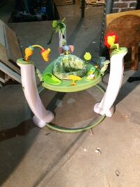 baby's green and white jumperoo WOBURN