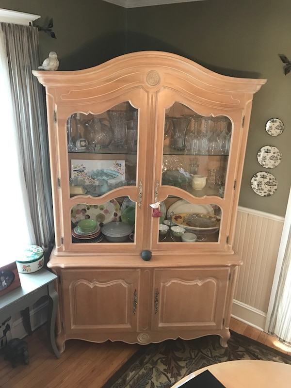 Best Offer Ethan Allenbrown Wooden China Cabinet Please Make Me A Reasonable 84h X 54w 20d