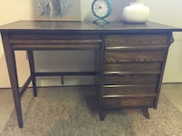 black wooden single pedestal desk Santa Barbara, 93105