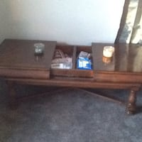 brown wooden TV stand with flat screen television Coos Bay, 97420