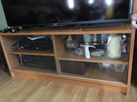brown wooden framed glass display cabinet Los Angeles, 91606