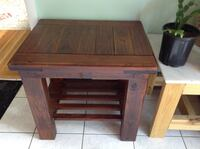 Heavy duty solid wood side table Vienna, 22180