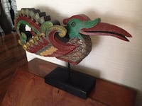Chinese Vintage Carved Bird Art Object