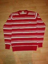 red and white striped long-sleeved shirt 554 km