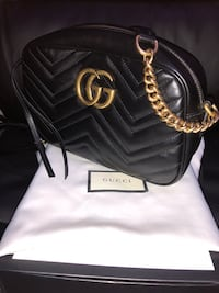 Black leather Gucci shoulder bag Manassas, 20110