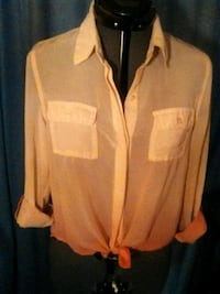 Woman's M fashion button up Blouse1l Bow, 98232