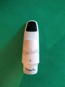 Vintage Saxophone Brilhart mouthpiece with cover