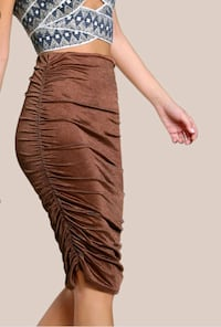 Ruched Bronze Skirt  Toronto, M6A 2W4
