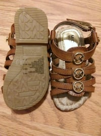 brown leather Michael Kors sandals Brawley, 92227