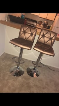 two black leather bar stools Phoenix, 21131