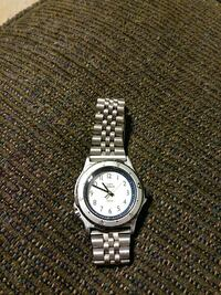 round silver-colored analog watch with silver-colored link bracelet Germantown, 20876