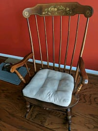 brown wooden windsor rocking chair Leesburg
