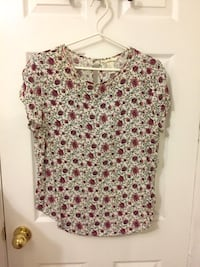 H&M floral blouse (short-sleeved, size 10) Toronto