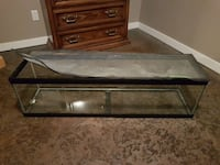 black wooden framed and clear glass pet tank St. Albert, T8N 2Z3