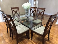 ASHLEY GLASS DINING TABLE WITH 6 chairs Brampton, L6Z