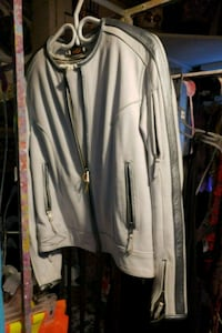 White and silver zip-up jacket Duncan, V9L