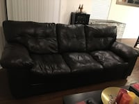 Brown leather couch Raleigh, 27609