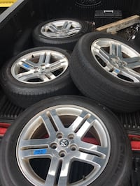 Set of 4 rims and tires(dodge) Braintree, 02184