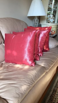 4 red couch cushions