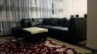 Black leather couch for sale. Toronto, M2J 3B6