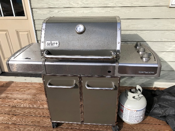 Used Weber Genesis E 310 3 Burner Gas Grill Silver For Sale In