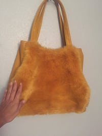 Fancy hand bag leather