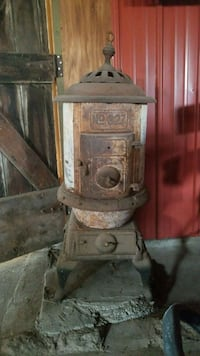 brown and white wood burner