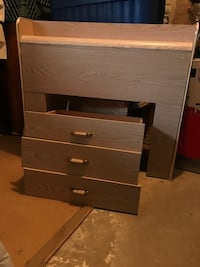 Twin size head board ( plus 3 drawers bed frame ) for free Vancouver, V5R 1T2