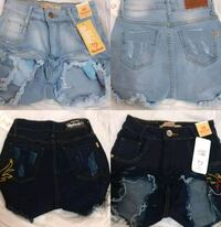 assorted-color denim shorts lot null
