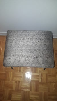 gray and white floral ottoman MONTREAL