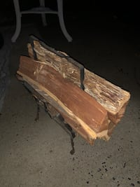 Wood log fireplace holder with cherry wood!