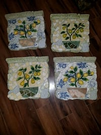 Wall Decor plaques fruit home goods approx 14x14