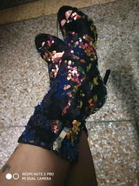 sequinned heeled boots size 37..new with tags Dehradun