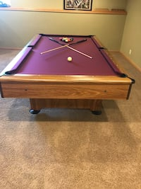 8' pool table game package