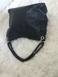 Black leather crossbody bag with silver chain link Edmonton, T5H 1L9