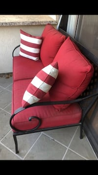 Patio and balcony loveseat - red - like new   Beverly Hills, 90210