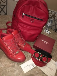 Red lot: Ferragamo, balenciaga & leather bag Brighton, K0K 1H0