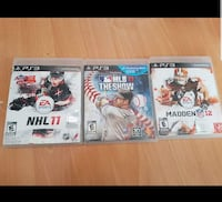 Lot of 3 PS3 Sport Themed Games