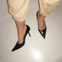 vintage nine west black leather heels Markham