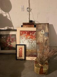 Decorating picture frames and vase