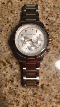 round silver-colored chronograph watch with link bracelet Glenelg, 21737